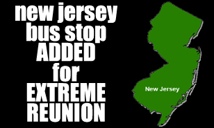 Extreme Reunion North Jersey bus stop added!